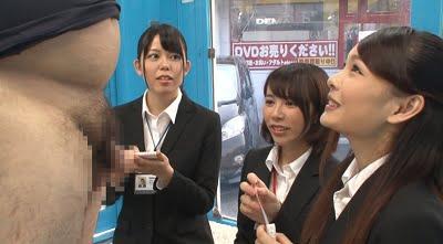 スーツ女子にチンポ露出CFNM2