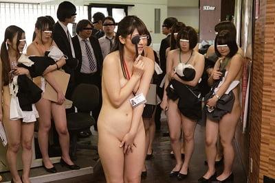 全裸で視力検査CMNF