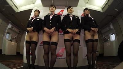 「制服・下着・全裸」でおもてなし またがりオマ○コ航空10サンプル2