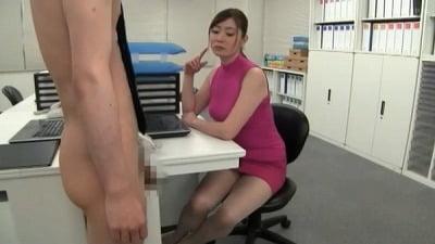 着衣女性と裸の男・ボディコンお姉さん編サンプル30