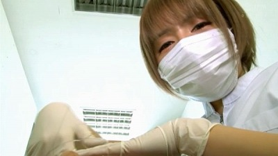 痴女歯科衛生士のゴム手袋手コキマゾ射精CLEANING!サンプル7
