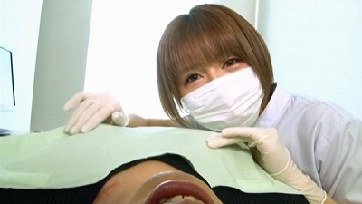 痴女歯科衛生士のゴム手袋手コキマゾ射精CLEANING!サンプル8