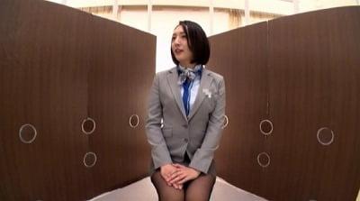 一般男女モニタリングAV しごいてしゃぶってヌキまくり!!大手航空会社勤務の憧れのキャビンアテンダントが無数に生えた壁ち○ぽの即ヌキに挑戦! 3サンプル15