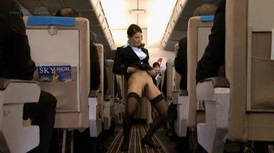 「制服・下着・全裸」でおもてなし またがりオマ○コ航空12 中出し便サンプル9