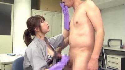 痴女清掃員のゴム手袋手コキマゾ射精WASH!3サンプル4
