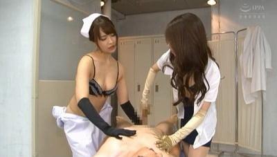 サテン手袋痴女のツルさら手コキM男強●射精サンプル23