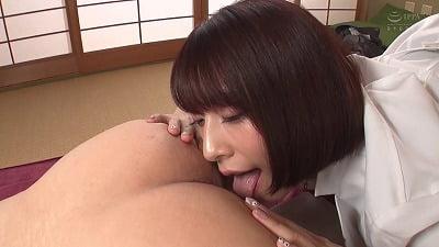 剃毛して舌を突っ込みながら唾液でたっぷり治療してくれるアナル舐め美人女医 阿部乃みくサンプル11