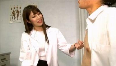 M男が皆憧れる・夢中になる保健室の先生がCFNMアナル責めサンプル11
