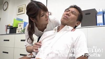CFNM乳首舐め手コキで射精!シャツの上から乳首いじり有りサンプル6