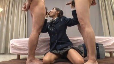 集団CFNM!コスプレ着衣フェチ注目!制服女子校生に大量服射サンプル15