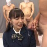 集団CFNM!コスプレ着衣フェチ注目!制服女子校生に大量服射サンプル9