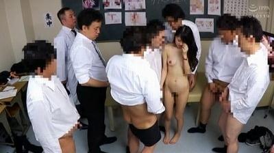 CMNFとCFNM!新任女教師が男子校の性教育授業で性器露出サンプル27
