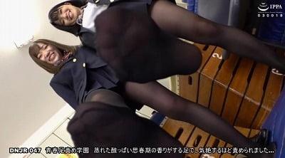 紺ソックス・ルーズソックス・黒パンスト!JKの足フェチ足コキサンプル3