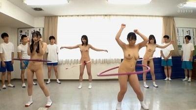 2021年CMNF羞恥全裸体力測定!女子だけ裸と時々男子も裸サンプル211